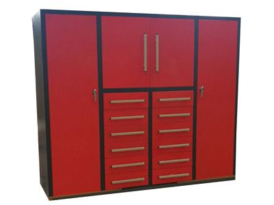 Red Tool Cabinet 12 Drawers