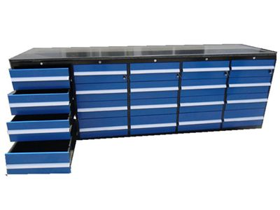 20 Drawers Blue Work Bench